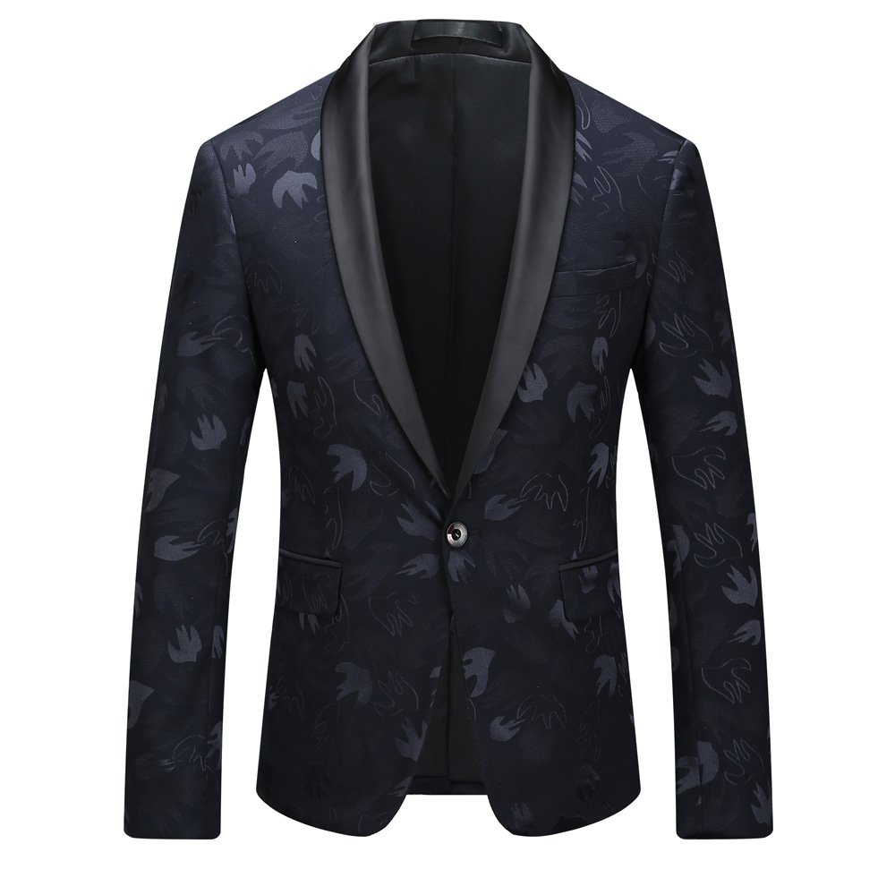 MAGE MALE Men's V-neck Vest Slim Fit Solid Double Breasted Formal Business Suit Separate Waistcoat, As Picture, Large