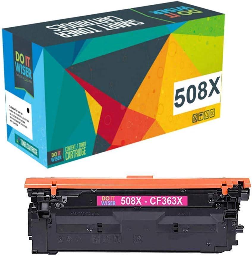 Do it wiser 508X CF363X Cartuchos de Tóner Compatibles para HP Color Laserjet M552 M552dn M553n M553dn M553x M577 M577c CF361X CF362X CF363X (Magenta)