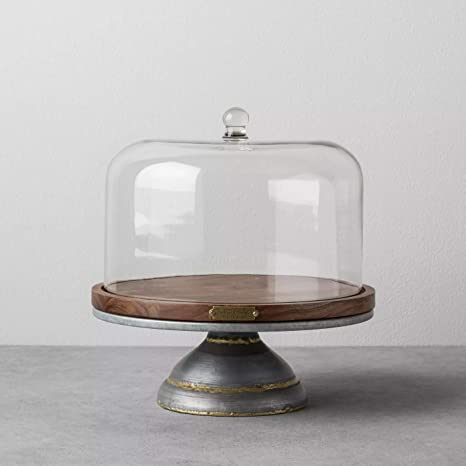 Wood Metal Covered Cake Stand Hearth Hand With Magnolia Cake Stands