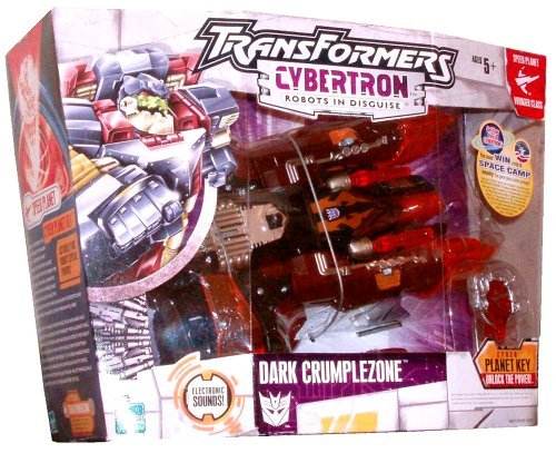 - Hasbro Year 2005 Transformers Cybertron Series Speed Planet Voyager Class 8 Inch Tall Robot Action Figure - Decepticon DARK CRUMPLEZONE with Double-Barreled Launchers, 2 Missiles and Cyber Planet Key