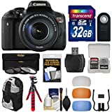 Canon EOS Rebel T6i Wi-Fi Digital SLR Camera & EF-S 18-135mm IS STM Lens with 32GB Card + Backpack + Flex Tripod + Filter + Diffusers + Kit
