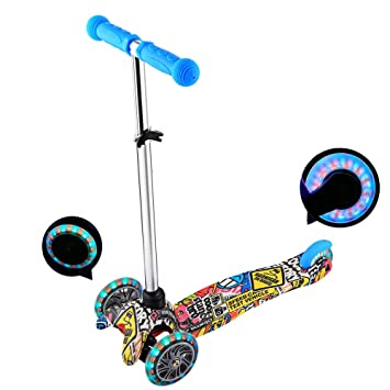 Amazon.com: Kemanner Kids Kick Scooter con ruedas LED Micro ...