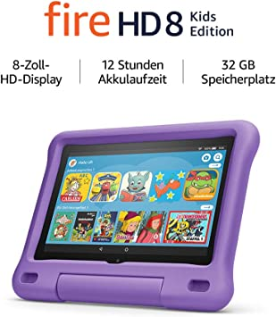 Fire Hd 8 Kids Edition Tablet 8 Zoll Hd Display 32 Gb Violette Kindgerechte Hülle Amazon Devices