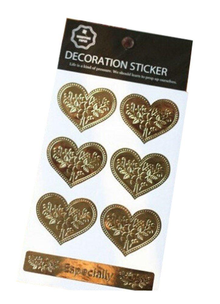 Set of 5 Decorative Envelope Tape Set Paper Seals Heart, 6 per Pack Panda Superstore PS-OFF490704011-ARIEL00512