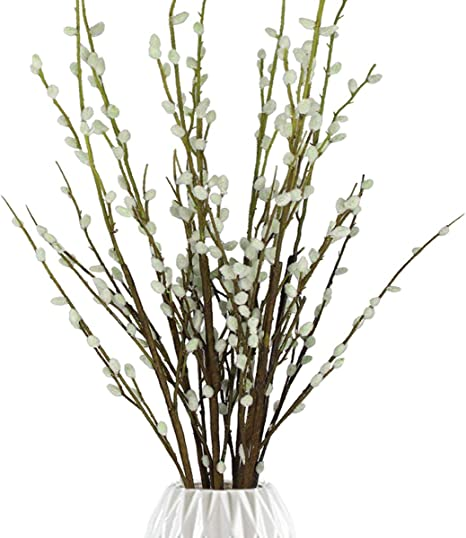 Dried pussy willow flowers-blossoms in box 300 pcs real forest craft supplies natural home wedding decor fluffy handcraft supply