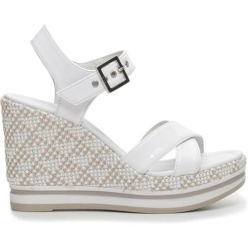 Nero Giardini Scarpe Donna Sandali in Pelle Bianca P717700D-707   Amazon.co.uk  Shoes   Bags c16baebe19b