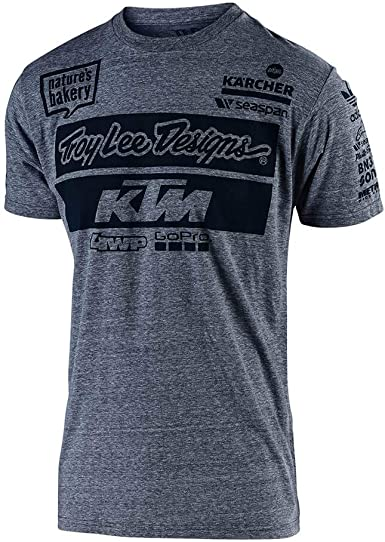Charcoal Troy Lee KTM 2019 YOUTH Team MX Casuals Tee T-Shirt