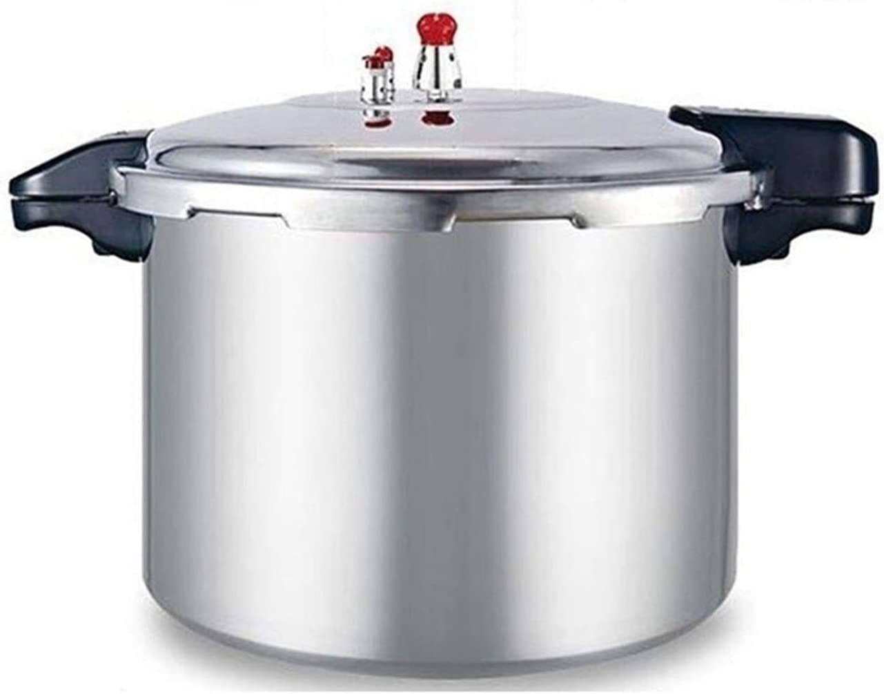 Commercial large-capacity pressure cooker thickened explosion-proof aluminum alloy pressure cooker cooking pot soup pot gas hotel restaurant large pot 21L, 23L (Color : Silver, Size : 23L)