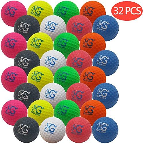 Macro Giant 1.7 Inch Foam Golf Ball, Set of 32, 8 Colors, Indoor Outdoor, Beginner, Training Practice by Macro Giant