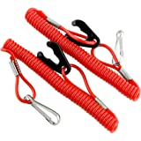 2pcs outboard motor engine lanyard kill stop for Outboard motor safety cable