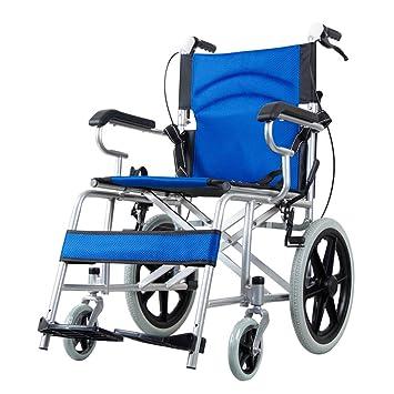 Carritos de la compra Silla de ruedas Silla de ruedas de aleación de aluminio Carro de