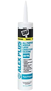 DAP INC 18152 10.1oz White Alex Plus Acrylic Latex Caulk with Silicone