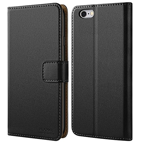 HOOMIL Case Compatible with iPhone 6S and iPhone 6, Premium Leather Flip Wallet Phone Case for Apple iPhone 6S / iPhone 6 Cover (Black)
