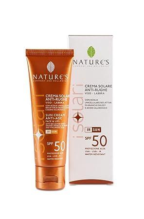 Bios Line Nature s I Solar Crema Solar anti-rughe Viso Labios 50 ml