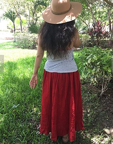 Mexican red maxi long skirt