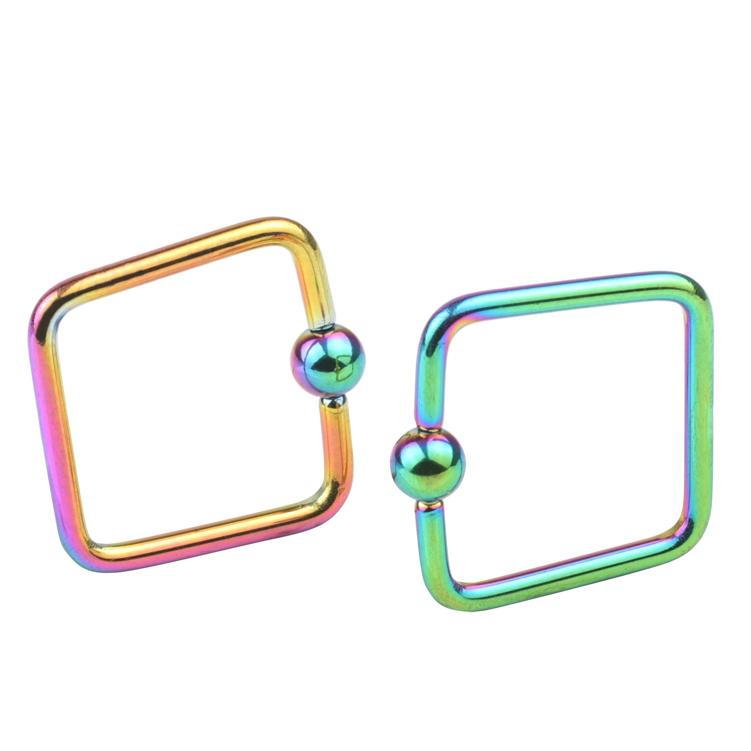 FORYOU FASHION Stainless Steel 16G 10mm CBR Ring Body Piercing Earring Hoop Rings