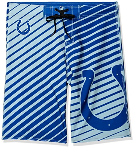 Nfl Team Boardshort (NFL Indianapolis Colts Men's Stripes Poly Board Shorts, Small/32