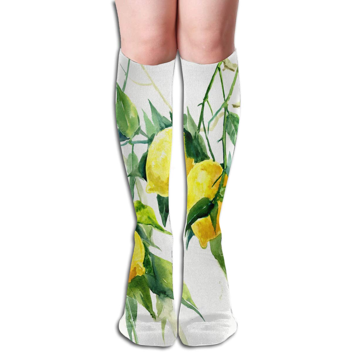 Women Socks Over Knee Watercolor Painting Of Flowers Winter Inspiring Halloween