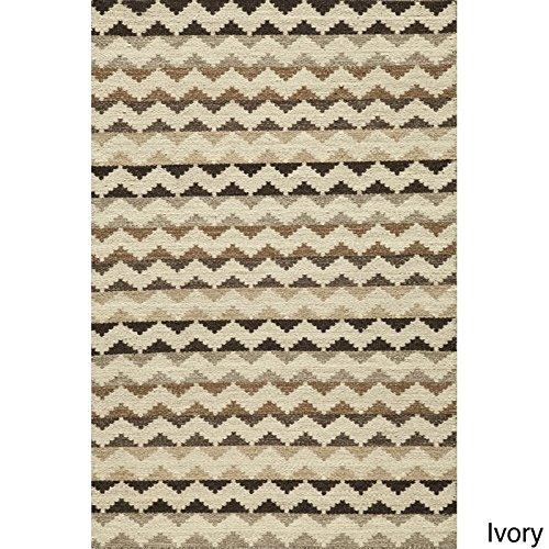 Momeni Rugs MESA0MES-5NAT80A0 Mesa Collection, 100% Wool Hand Woven Flatweave Transitional Area Rug, 8' x 10', Natural (Handmade Transitional Rug)