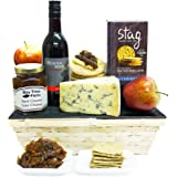 STILTON CHEESE HAMPER & RED WINE - Traditional Cheese Gifts Luxury & Gourmet Cheese hampers by Eden4hampers