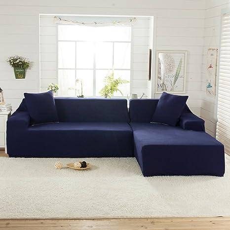 littlegrass Stretch seccionales sofá fundas para tejido de poliéster elástico en forma de L sofá Slipcovers