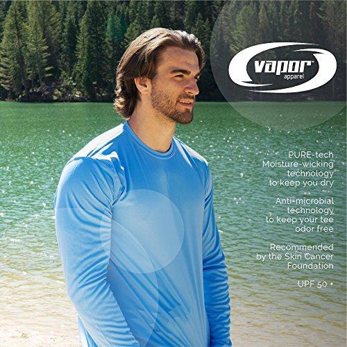6ac536b1 Vapor Apparel Men's UPF 50+ UV Sun Protection Performance Long Sleeve T- shirt Large