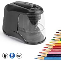Electric Pencil Sharpener, Heavy-Duty Helical Blade to Fast Sharpen, No.2/Colored Pencils(6-8mm), USB/Battery Operated…