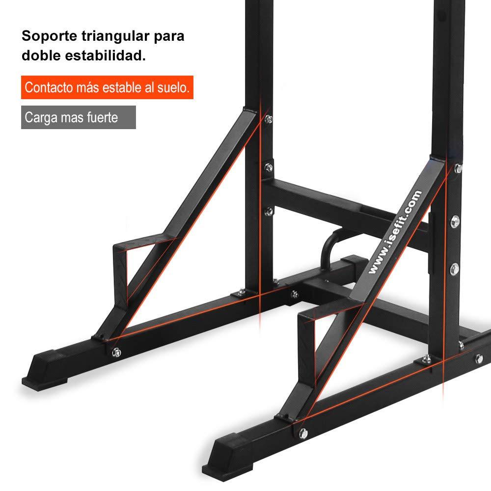 ISE Estación de musculación, Torre de Entrenamiento Multifuncional, Torre de Gimnasio con Barra de Flexiones y dips SY-5607: Amazon.es: Deportes y aire ...