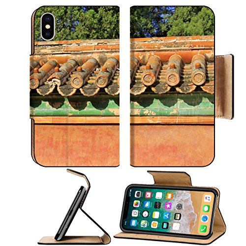 Liili Premium Apple iPhone X Flip Pu Leather Wallet Case glazed tiles on the wall in a park north china Photo 21005575 Simple Snap ()