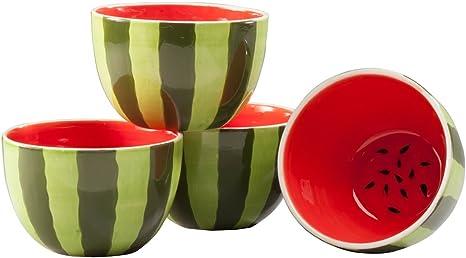serving bowl Ceramic bowl home decor summer decor watermelon bowl housewarming gift hostess gift one of a kind fruit bowl