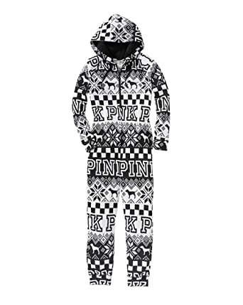 2b2011ee1a Image Unavailable. Image not available for. Color  Victoria s Secret Pink  Sherpa Onesie Pajama Medium
