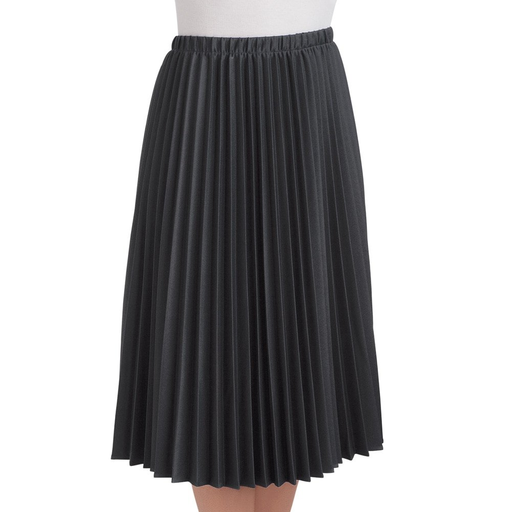 d5e0cc99559 Women s Classic Pleated Mid-Length Jersey Knit Midi Skirt with Comfortable  Elastic Waistband - Made in The USA at Amazon Women s Clothing store