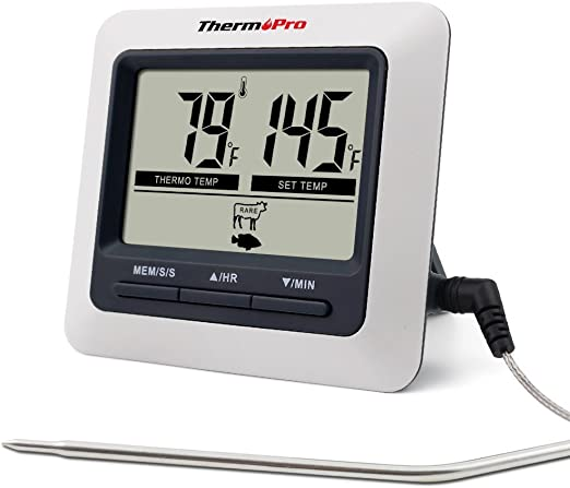 Digital Funk Grillthermometer Ofen BBQ Thermometer Backofenthermometer 02