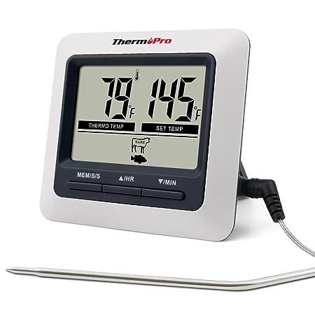ThermoPro TP04 Termómetro Digital de Cocina para Alimentos Carne ...