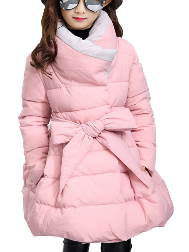 Girls Coat Slim Fit A Line Winter Coat Dresses Thicken Cotton Down Jacket EHWT-918