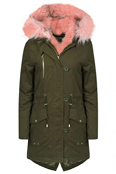 Womens Tokyo Laundry Teegan Padded Jacket Faux Fur Lined Parka ...