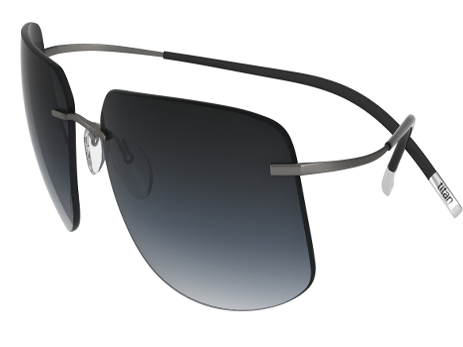 Silhouette Sunglasses Titan Minimal ART The Icon 8698 medium to large fit (ruthenium silky matte / grey gradient lenses) by SILHOUETTE optical