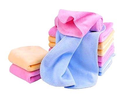 Very Soft Women's Cotton Face Towels, Multicolour - Set of 10