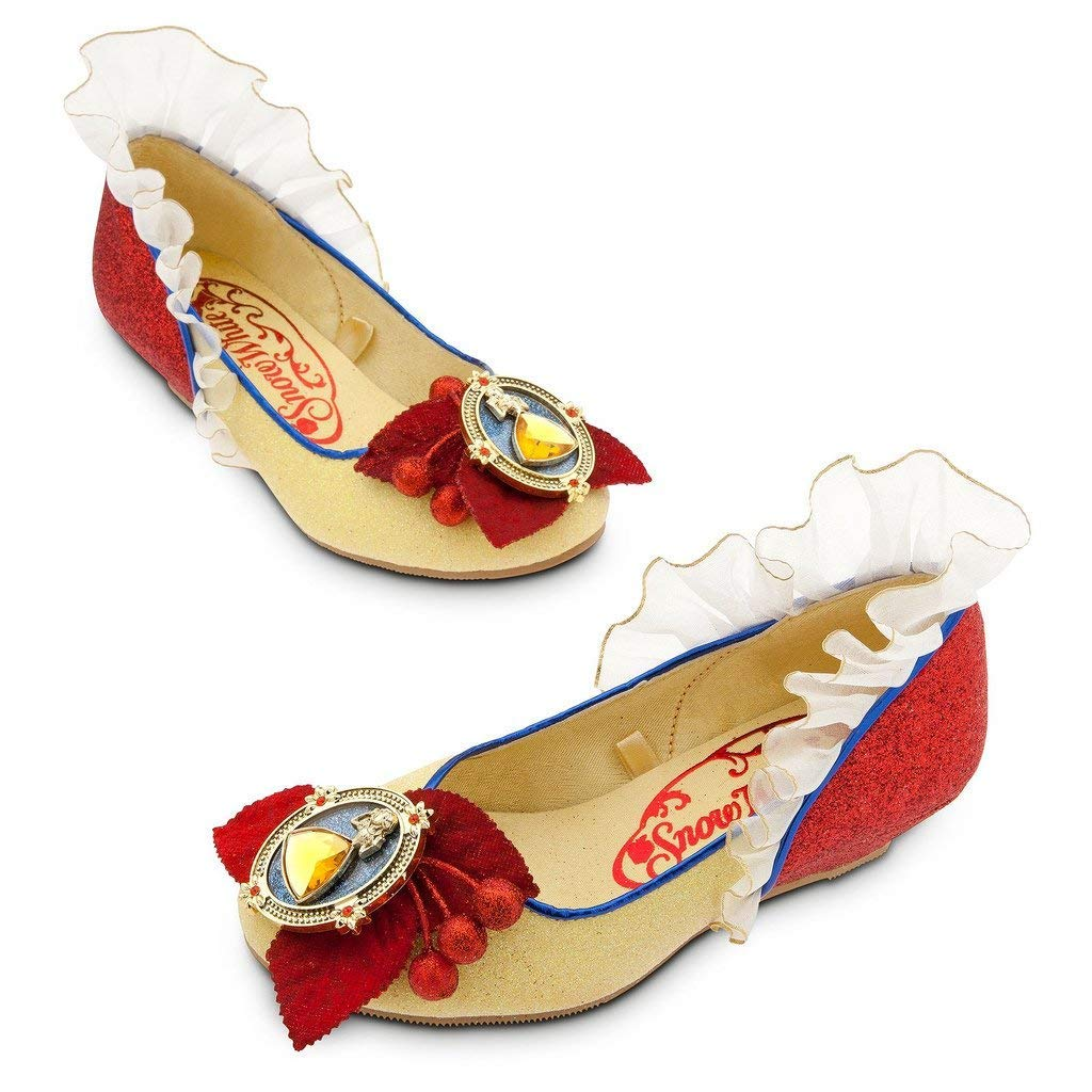 Disney Store Deluxe Snow White Costume Shoes Heels Size 11-12 US Toddler Little Kid 00-5UE352KD-TK