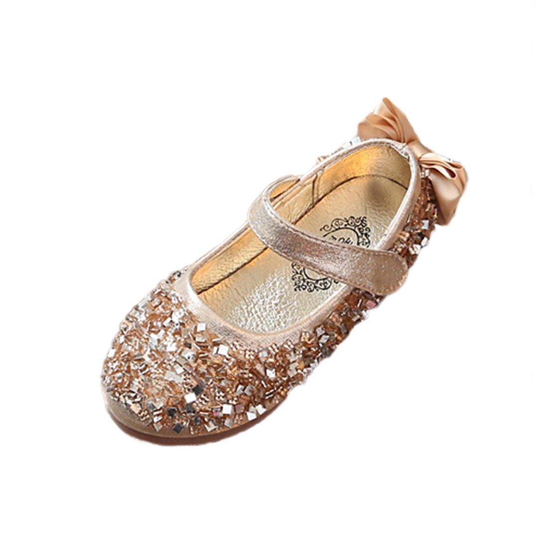YIBLBOX Kids Girls Toddler Ballet Flats Shoes Mary Janes Wedding Party Princess Dress