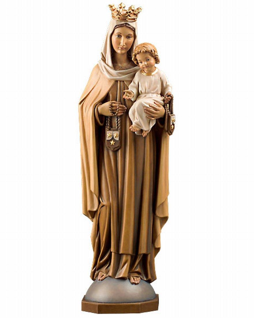 創業100年の木彫りブランド マリア像カルメル山 カラー 高さ 15cm 【イタリア】 B00IBVA2ZS