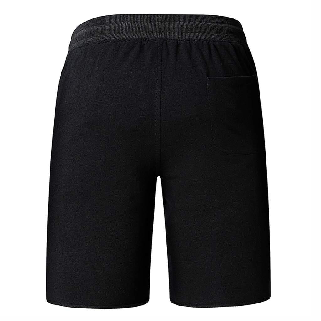 Palarn Sports Pants Casual Cargo Shorts Fashion Mens Casual Plain Color Sports Shorts Home Pants