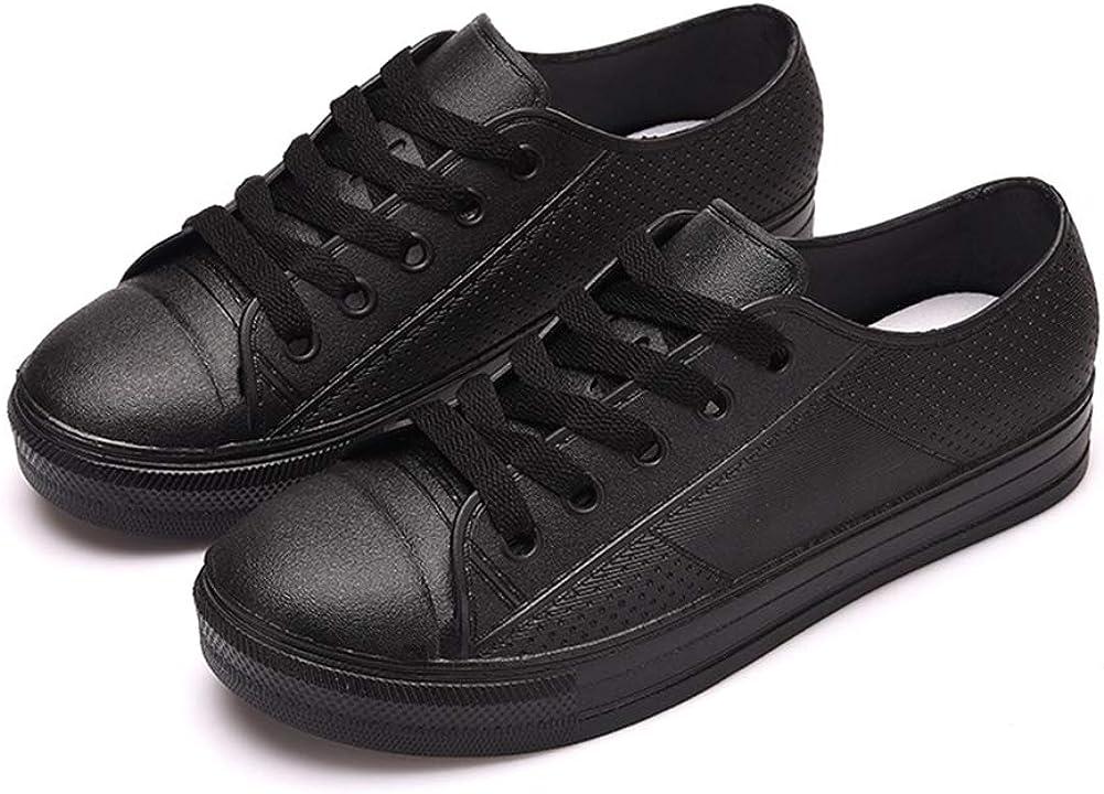 QZHIHE Women Rain Shoes Waterproof PU
