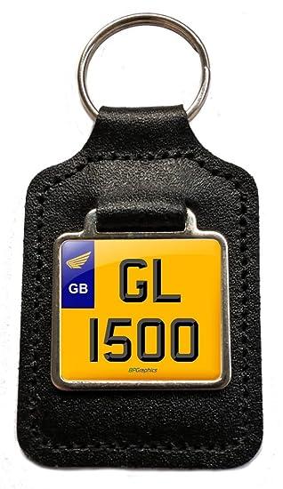 GL 1500 Goldwing número placa piel llavero para Honda ...