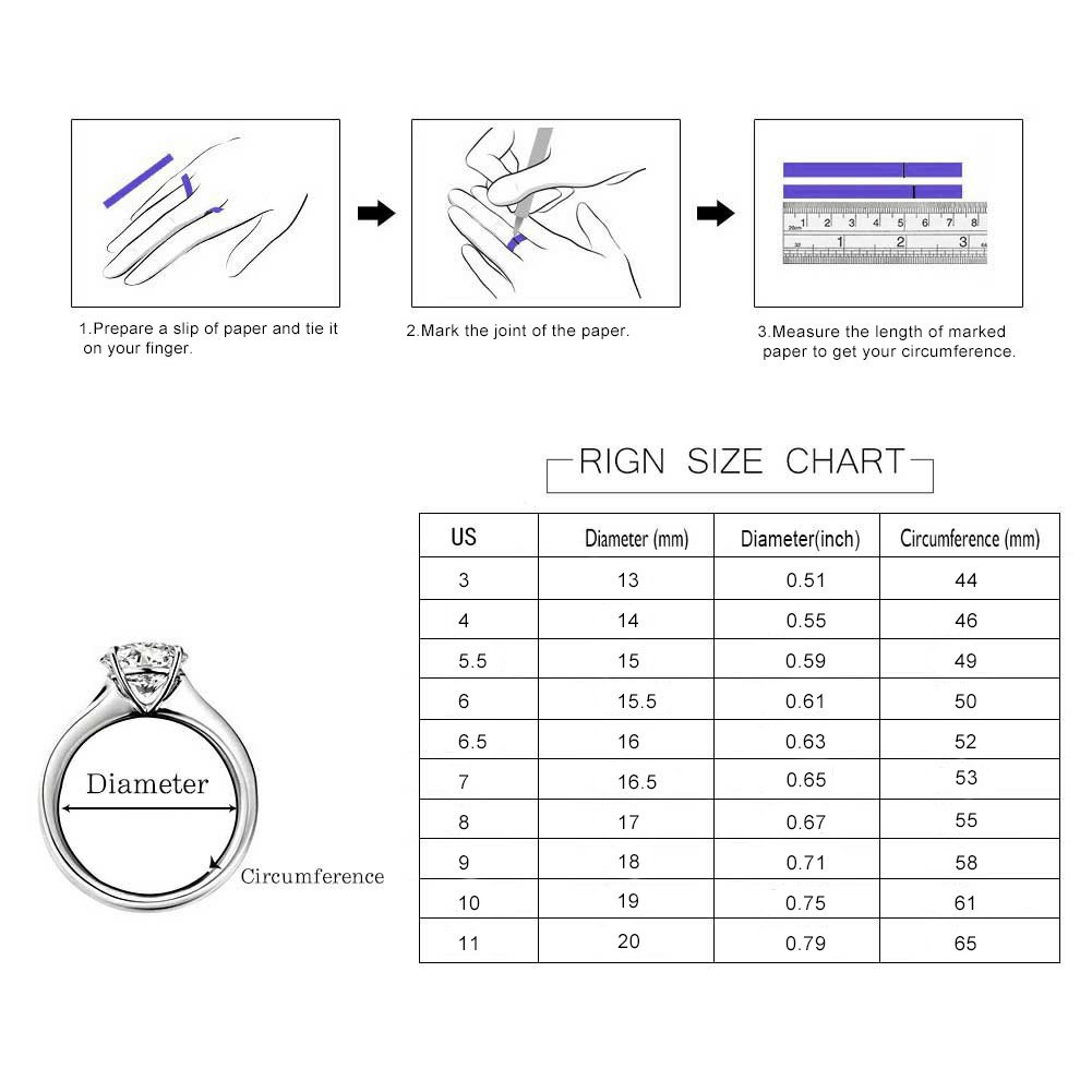 New Year Engagement Serend SPILOVE Vintage Style Cubic Zirconia Wide Band Statement Cocktail Ring 18k White Gold Plated Jewelry Valentine Day,Womens Day Women/'s Day hongliang LRHLG100-B for Christmas Wedding