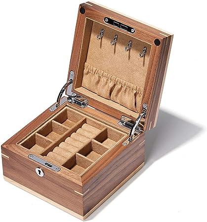 Cajas para relojes Joyería Caja De Almacenamiento Reloj Collar del Anillo De Almacenamiento Joyero Regalo (Color : A, Size : 15 * 15 * 9.5cm): Amazon.es: Hogar