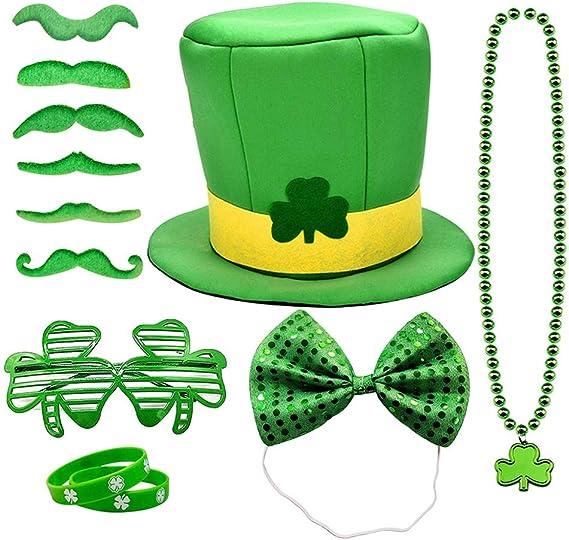 Patrick/'s Day Green Bow Tie Headband Fancy Irish Leprechaun Party Unisex St