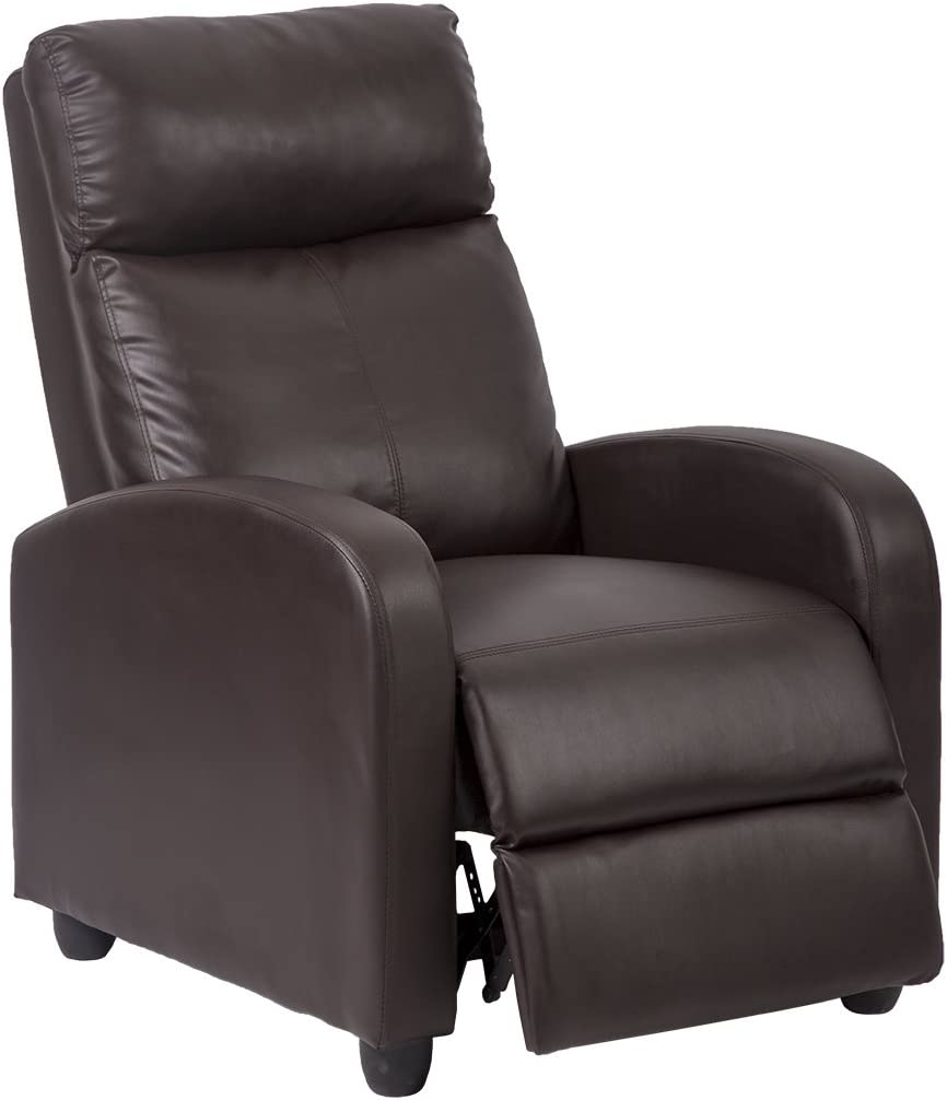 Single Recliner Chair Sofa Furniture Modern Leather Chaise Couch  sc 1 st  Amazon.com & Living Room Chairs | Amazon.com islam-shia.org