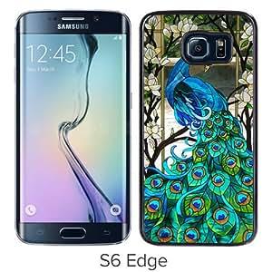 Fashionabe Samsung Galaxy S6 Edge Case ,Popular And Unique Designed Case With peacock Black Samsung Galaxy S6 Edge Cover Phone Case
