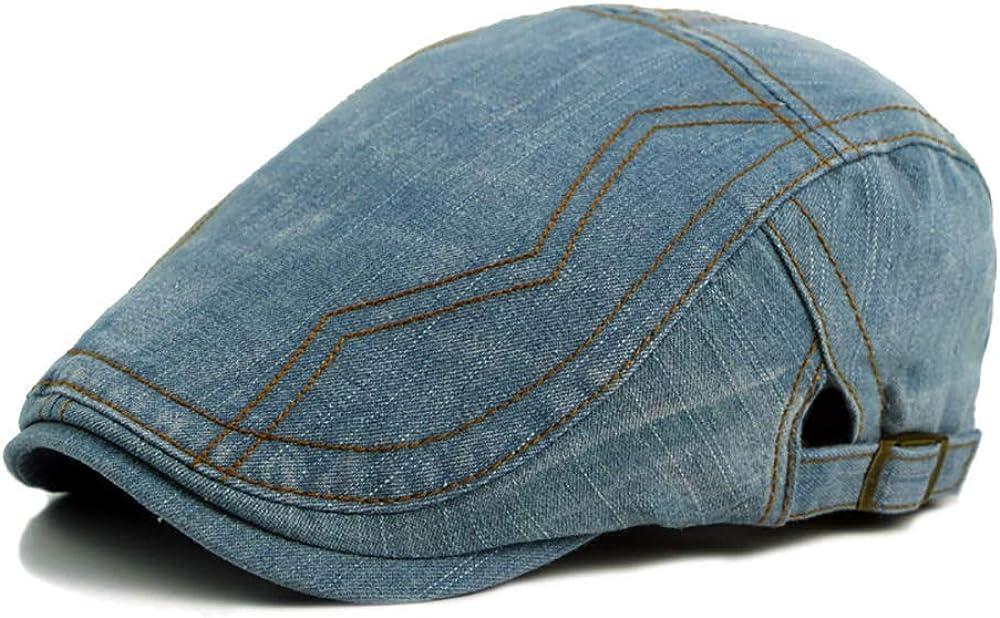 Cap Unisex Denim Adjustable Flat Cap Vintage Ivy Duckbill Newsboy Gatsby Irish Cap hat Cap